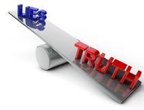 Lügen und Wahrheit Stockfotos