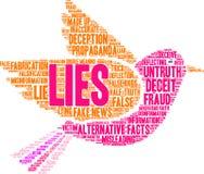 Lügen-Wort-Wolke stock abbildung