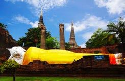 Lügenbuddha Ayutthaya Lizenzfreies Stockbild