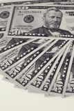 Lügengesicht der Dollarscheine Lizenzfreie Stockfotos