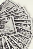 Lügengesicht der Dollarscheine Lizenzfreie Stockbilder