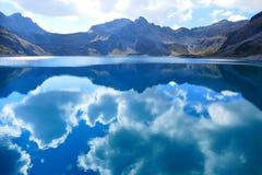 Lüner Lake, Clouds, Mirroring Stock Images