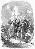 lądować Kolumb lądowanie w Nowym świacie ilustracji