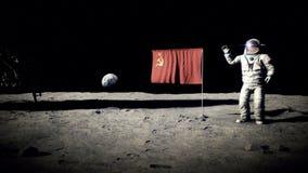 Lądować na księżyc kosmonauta ilustracji