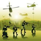 Lądować oddziałów wojskowych Zdjęcie Royalty Free