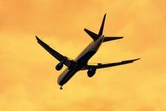 Lądować przy zmierzchem Obraz Stock