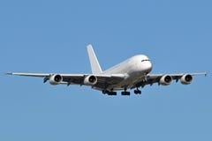 A380 lądowanie Zdjęcie Stock