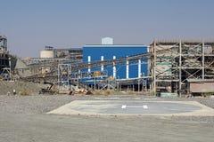 Lądowisko przy Najważniejszą diament kopalnią w Cullinan, Południowa Afryka Fotografia Royalty Free