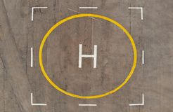 Lądowisko strzelanina od powietrza heliocentryczny zdjęcie royalty free