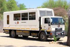 Lądowy ciężarowy campsite Windhoek, Namibia Zdjęcia Stock