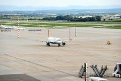 Lądujący samolot Fotografia Stock