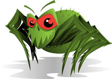 lądzieniec przerażający pająk Zdjęcia Stock