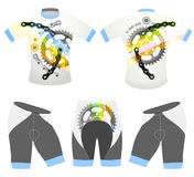 l'ฺBicycle folâtre le vecteur de T-shirt Photo libre de droits