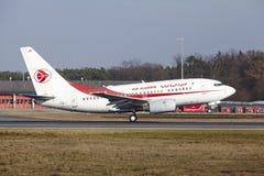 L'†«Air Algerie Boeing 737 d'aéroport international de Francfort décolle Photo libre de droits