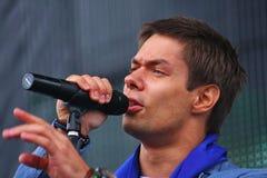 L'†de Stanislav Piatrasovich Piekha (Stas Piekha)» est un chanteur et un acteur populaire russe, et le petit-fils d'Edita Piek images stock