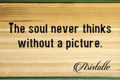 L'âme ne pense jamais sans image aristote photos libres de droits