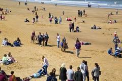 L'âne monte sur la plage chez Whitby 'éditorial' Images stock