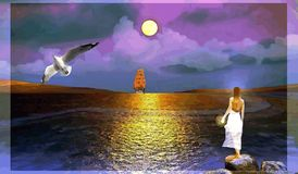 L'écarlate navigue des rêves Photo libre de droits