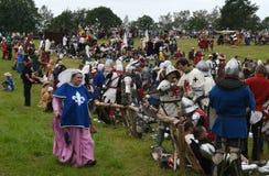 L'échafaudage de la bataille médiévale de Grunwald à partir de 1410 images libres de droits