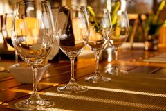 L'échantillon de vin Images libres de droits