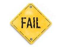 L'échec n'est pas l'extrémité - vintage, style en caoutchouc, affiche superbe d'affaires d'abrégé sur qualité Image stock