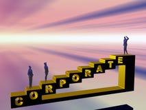 L'échelle de corporation. Image libre de droits
