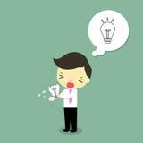 L'échouer d'homme d'affaires font l'idée Images libres de droits