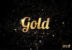 L'or éclabousse la texture ou les scintillements Configuration de vecteur illustration libre de droits