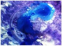 L'éclaboussure liquide de vague de mer de goutte de la belle eau fraîche de fond d'abrégé sur art d'aquarelle a donné à l'imagina Images stock