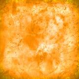 L'éclaboussure a souillé le vieux fond de papier de texture usée orange-foncé aucun I illustration stock