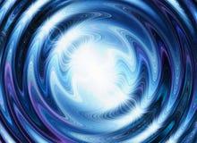 L'éclair blanc sur un bleu ondule des milieux Images stock