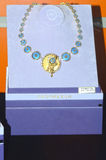 L'éclat de luxe de la Chambre JUNWEX Moscou de bijoux d'esthète de collier Images libres de droits