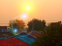 L'éclat du soleil photo stock