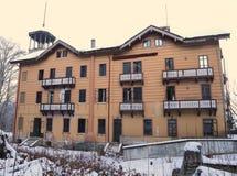 L'école antique d'hôtel a appelé Scuola Alberghiera maintenant complètement ab Image stock