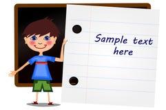 L'école badine la bannière avec une feuille de livret Image stock
