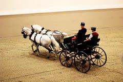 L'école d'équitation espagnole de l'effet d'aquarelle de Vienne Image stock