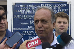 L'école technique a été ouverte avec Rio 2016 ressources olympiques du Comité Images stock