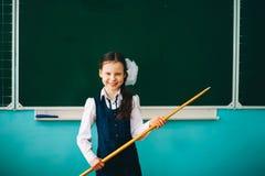 L'écolière de fille Images libres de droits