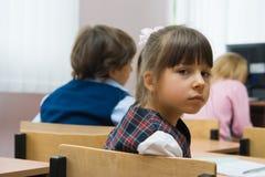 L'écolière triste Photographie stock libre de droits
