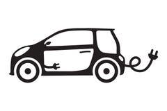 L'écologie de voiture a isolé l'automobile électrique de vecteur d'icône verte de concept de véhicule Photo libre de droits