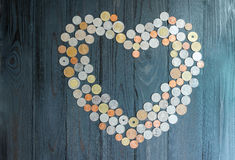 L'économie pour se marient, résumé de l'amour Photos libres de droits