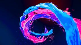 L'écoulement de vortex liquide coloré lumineux de résumé avec éclabousse le mouvement lent illustration stock
