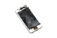 L'écran de téléphone portable est criqué Photos libres de droits