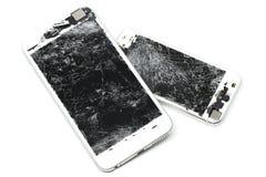 L'écran de téléphone portable est criqué Photographie stock