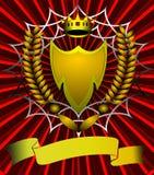 L'écran protecteur avec la corona et l'oreille Images libres de droits