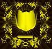 L'écran protecteur de l'or (en) avec l'ornement Images libres de droits