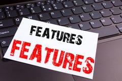 L'écriture comporte le texte fait dans le plan rapproché de bureau sur le clavier d'ordinateur portable Concept d'affaires pour l photographie stock libre de droits