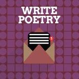 L'écriture des textes d'écriture écrivent la poésie Idées mélancoliques roanalysistic de littérature d'écriture de signification  illustration libre de droits