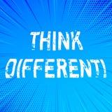 L'écriture des textes d'écriture pensent différent La signification de concept repensent le changement sur la vision acquièrent d illustration libre de droits