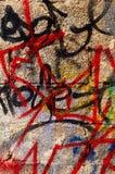 L'écriture sur le mur Photos stock